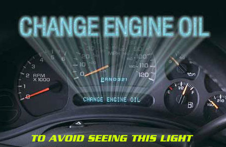 Change engine oil light